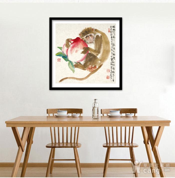 著名人物画家 刘玉海 灵猴献瑞图2