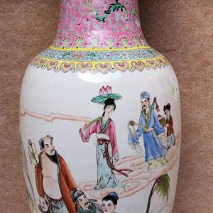 七八十年代八仙过海粉彩大瓶