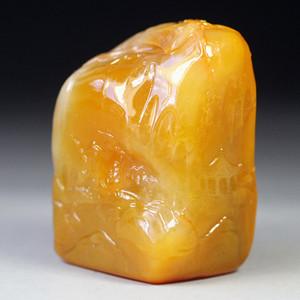 珍品收藏 珍品田黄石圆雕《行旅图》薄艺章