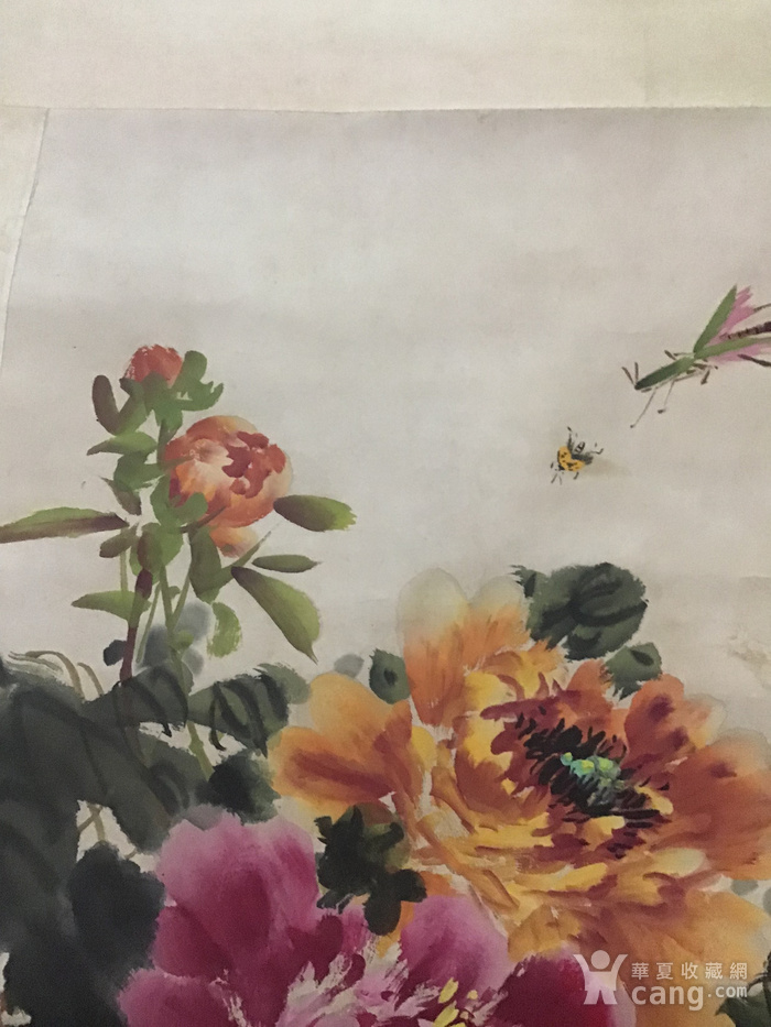 回流民国画家萧朗花卉作品图7
