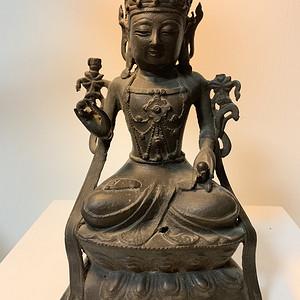 明代铜雕观音菩萨