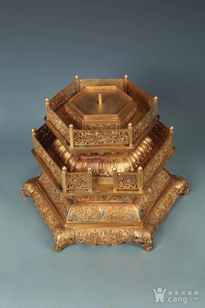 清 精铸铜胎福寿龙纹香亭 垂恩香筒 一对图8