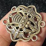 晚清 银制 福在眼前 挂件 手工雕刻 工艺精美 包浆厚重