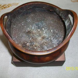 三足双耳铜炉