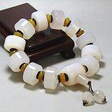 天然冰糖玛瑙 桶珠手串 非常漂亮