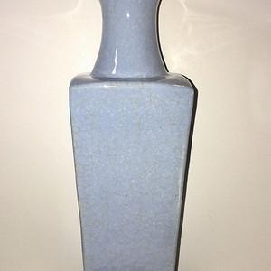 民国34.5cm天圆地方天青色四方瓶