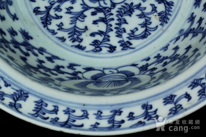 24清中期青花缠枝纹面盆图8
