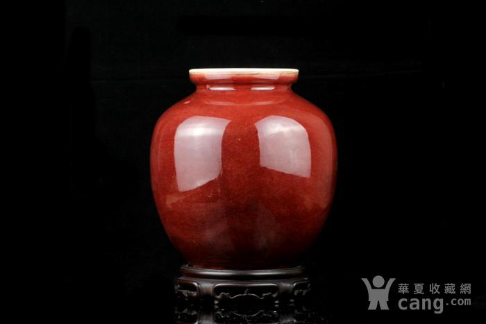 26清祭红釉石榴尊图1