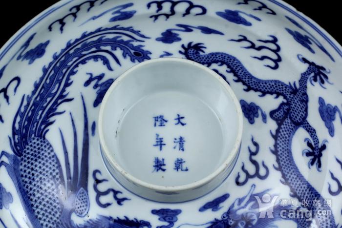 29清晚青花龙凤纹大盖碗图3