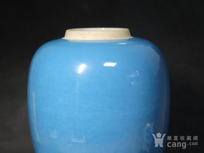 精品   民国27cm天蓝釉大罐图7