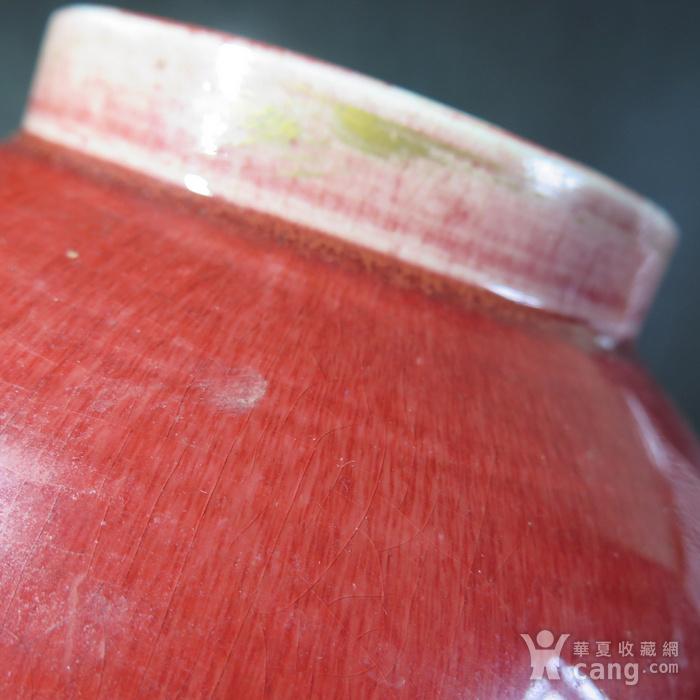 清代红釉将军罐图7