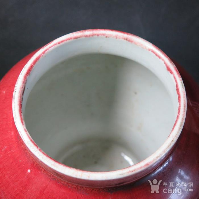 清代红釉将军罐图11