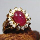 回流斯里兰卡红宝石戒面戒指 通透性极佳