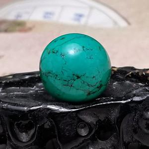 欧洲回流9.55克20mm松石圆珠
