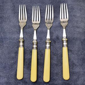 18世纪英国老餐叉4件套