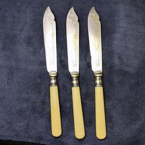 18世纪英国老餐刀3件套