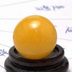 6.12克20mm鸡油黄蜜蜡大圆珠