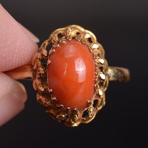 天然 红珊瑚戒指
