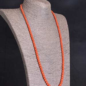 天然 珊瑚珠 项链