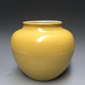 欧洲回流明黄釉罐