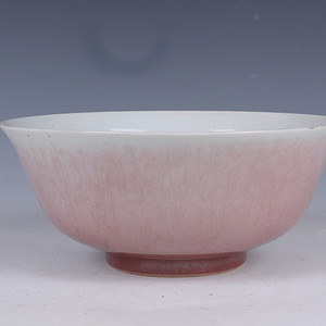 欧洲回流胭脂红釉碗