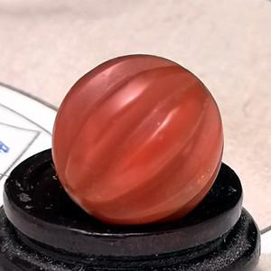 欧洲回流9.4克保山杨柳老料南红20mm大圆瓜棱珠