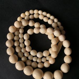 8033欧洲回流骨质圆珠项链