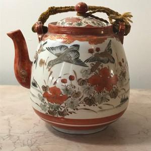 9029 民国矾红花鸟茶壶