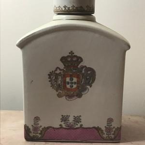 9031 清末欧洲定制徽章瓷茶叶罐