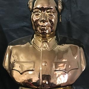 文革精品全描金毛主席大瓷像