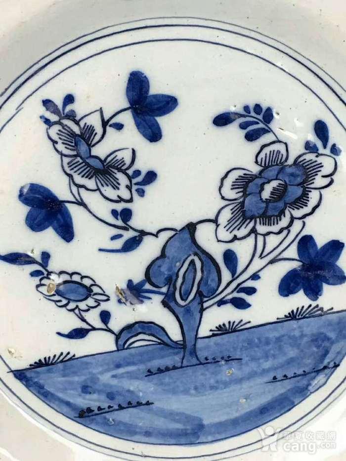 青花花卉纹盘清青花花卉纹盘图2