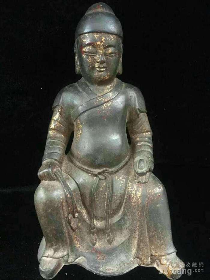 回流纯铜精工财神造像图1