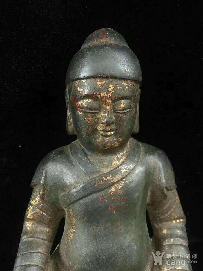 回流纯铜精工财神造像图3