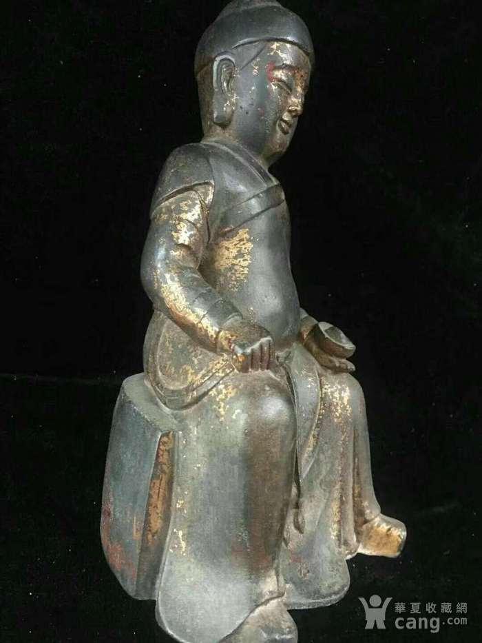 回流纯铜精工财神造像图6
