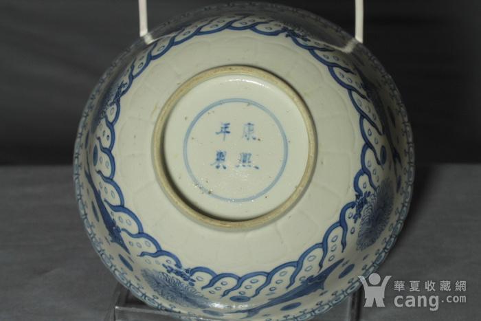 清康熙青花鱼藻纹葵口碗图8
