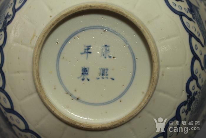 清康熙青花鱼藻纹葵口碗图10