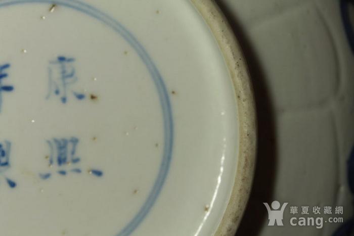 清康熙青花鱼藻纹葵口碗图11