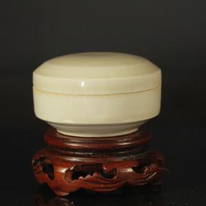 邢窑 盈 字瓷盒