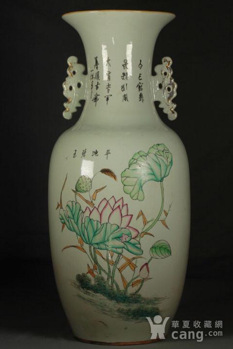 晚清民国粉彩双面人物花卉纹300件瓶图4