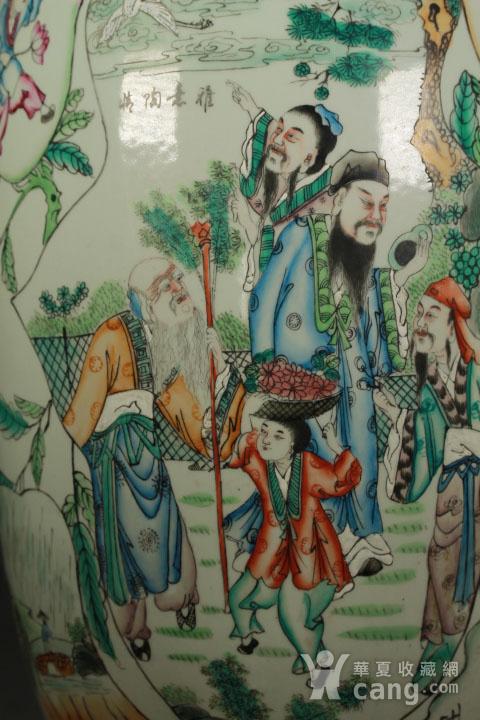 晚清民国粉彩双面人物花卉纹300件瓶图6