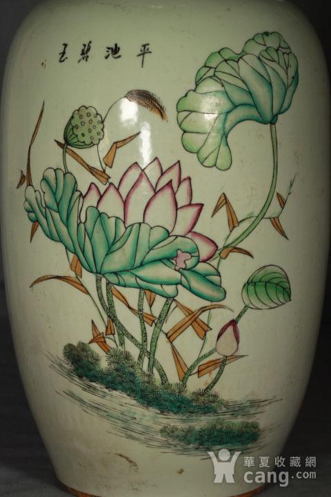 晚清民国粉彩双面人物花卉纹300件瓶图12