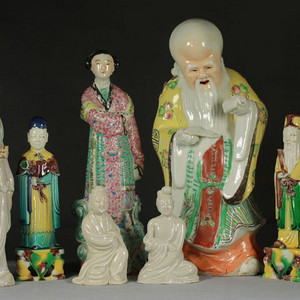晚清民国瓷塑人物7件