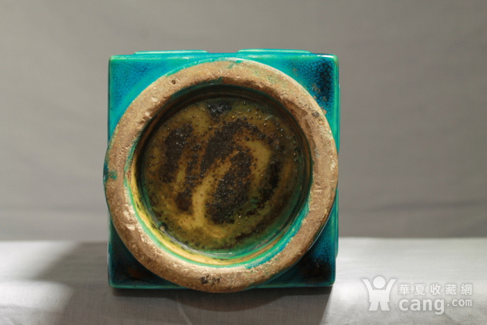清代孔雀绿釉八卦纹琮式瓶图8