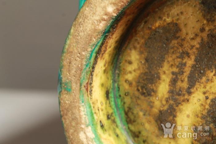 清代孔雀绿釉八卦纹琮式瓶图10