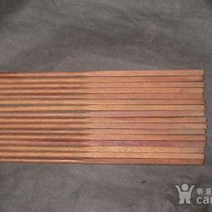 近代人民大会堂精制海南黄花梨老筷子一套八双
