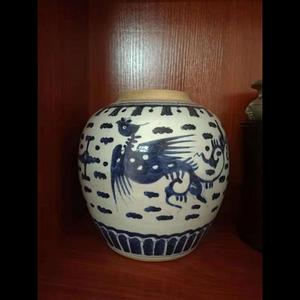 乾隆魁凤精品青花大罐