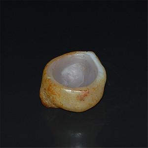 阿拉善玛瑙原石随型雕小香炉 水盂
