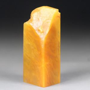 经典收藏 精品老挝田黄石《素章》 有丝