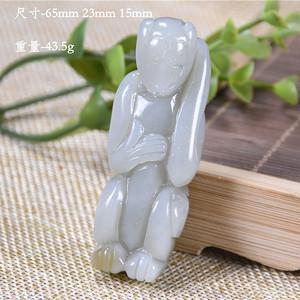 和田玉 小猴 明清传统造型 萌萌可爱