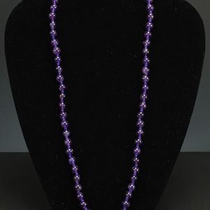 天然紫色水晶项链